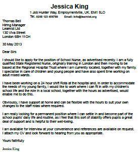 Free cover letter for registered nurses